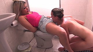 Lesbians eating pussy and ass in the bathroom Thumbnail