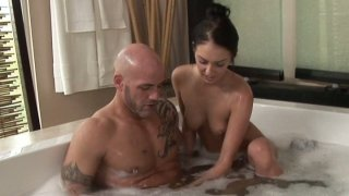Tender brunette diva Stephanie Cane sexy water procedures Thumbnail