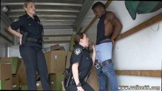 Milf outdoor gangbang and skinny guy fucks Black suspect taken on a Thumbnail